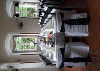Speisesaal_Hochzeit_Black and White